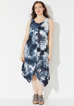 Suncoast Tie-Dye A-Line Midi Dress,