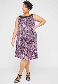 Lilac Garden A-Line Dress,