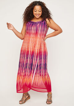 Watercolor Maxi Dress,