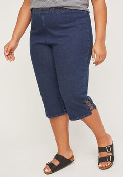Everyday Denim Pull-On Capri,