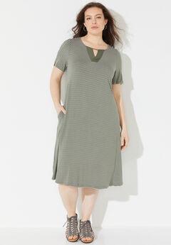 Daylight Stripe A-Line Dress (With Pockets),
