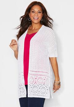 Elegant Crochet Cardigan,