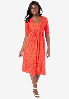 Pleated Tunic Dress,