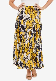 Flowing Crinkled Maxi Skirt,