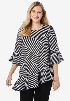 Bell Sleeve Georgette Blouse,