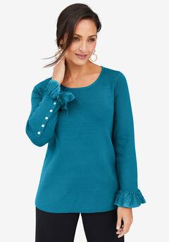 Lace Cuff Sweater,