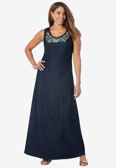 Denim Maxi Dress,