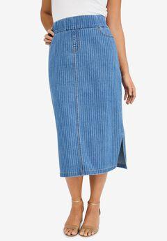 Comfort Waist Midi Skirt,