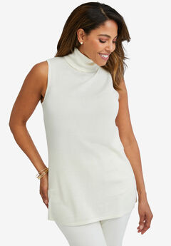 Sleeveless Turtleneck Shell,