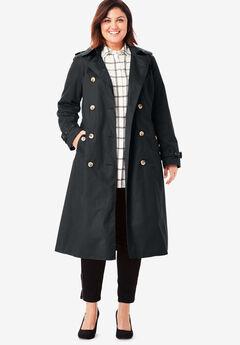 Long Trench Coat, BLACK