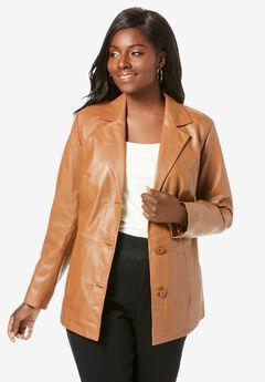 Leather Blazer,