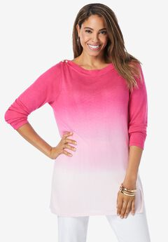Boatneck Tunic Sweater,