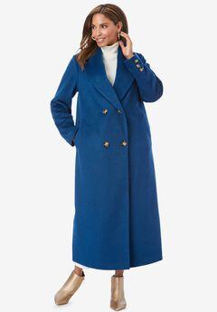 Long Shawl Collar Coat, OCEAN TEAL