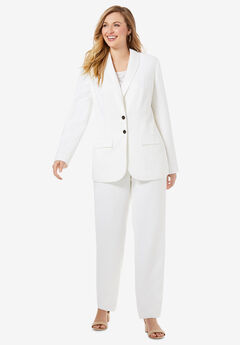 Single Breasted Pant Suit, IVORY
