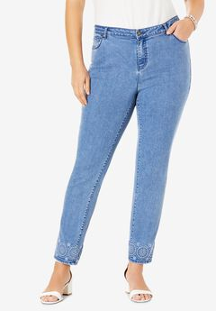 Embroidered Jeans,