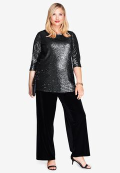 Sequin Blouse Tunic,