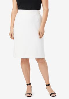 Tummy Control Bi-Stretch Pencil Skirt,