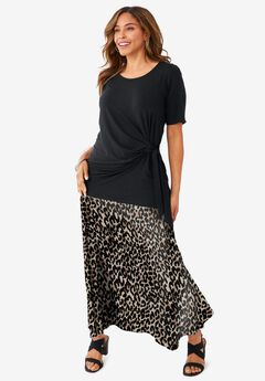 Everyday Knit Maxi Skirt, CHEETAH PRINT