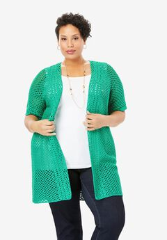 Crochet Long Cardigan,