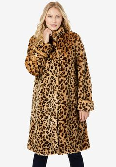 Faux Fur Swing Coat,