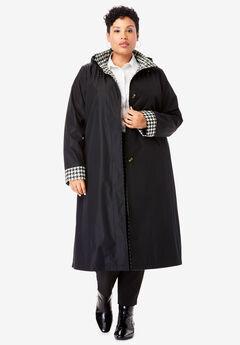 Contrast Hood Raincoat,