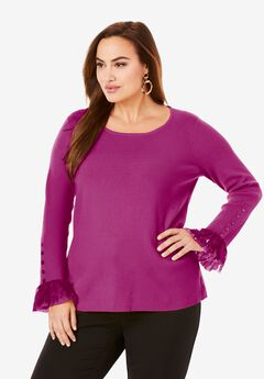 Lace Cuff Sweater,