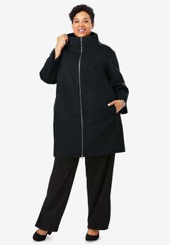 3-in-1 Puffer Coat, BLACK