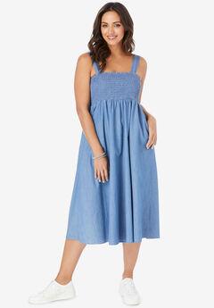 Denim Midi Dress,