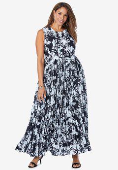 Pleated Maxi Dress,