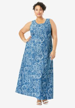 Denim Maxi Dress,