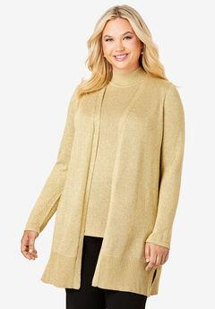 Shimmer Cardigan Sweater,