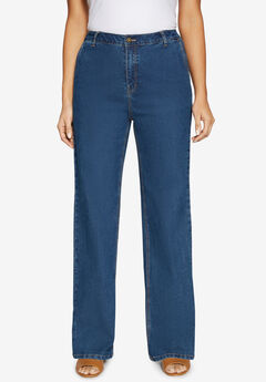 True Fit Wide Leg Jeans,
