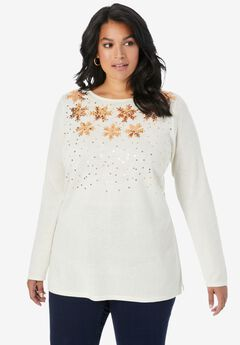 Holiday Motif Pullover,
