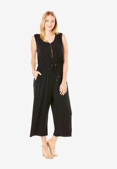 Cropped Wide-Leg Jumpsuit,