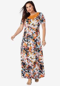 Applique Maxi Dress,