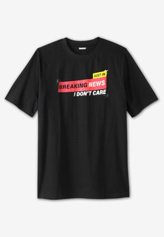 KingSize Slogan Graphic T-Shirt,