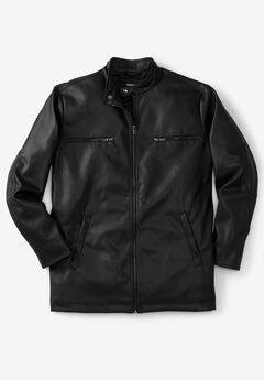 Faux Leather Moto Jacket,