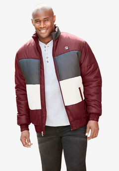 FILA® Tri-Color Puffer Jacket,