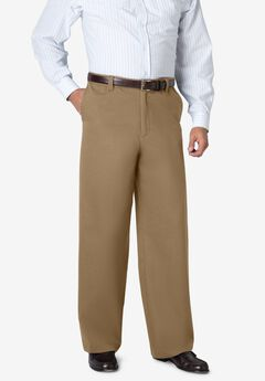 WRINKLE-FREE PANTS WITH EXPANDABLE WAIST, WIDE LEG,