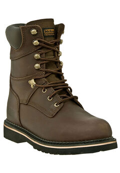 """McRae 8"""" Steel Toe Lace Boots,"""