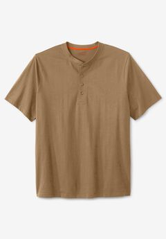 Boulder Creek® Heavyweight Short-Sleeve Henley Shirt,