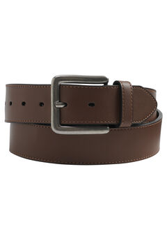 Casual Stitched Edge Leather Belt,