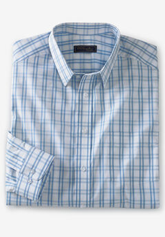 KS Signature Classic Fit Broadcloth Flex Long-Sleeve Dress Shirt,