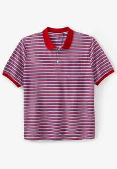 Liberty Blues™ Pocket Piqué Polo Shirt, Solids & Stripes,