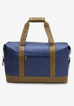 Canvas Duffle Bag With Suede Details,