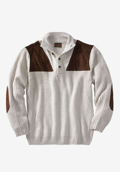 Boulder Creek™ Patch Sweater with Mock Neck,