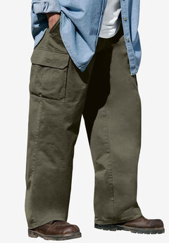 Boulder Creek® Renegade Side-Elastic Waist Single Pocket Cargo Pants,