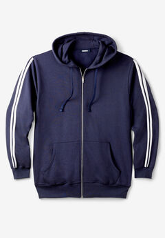 Fleece Jacket with Striped Detail,