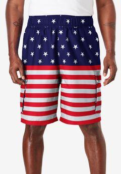 KS Island™ Printed Cargo Swim Shorts,