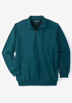 QUARTER ZIP-FRONT WICKING FLEECE JACKET,